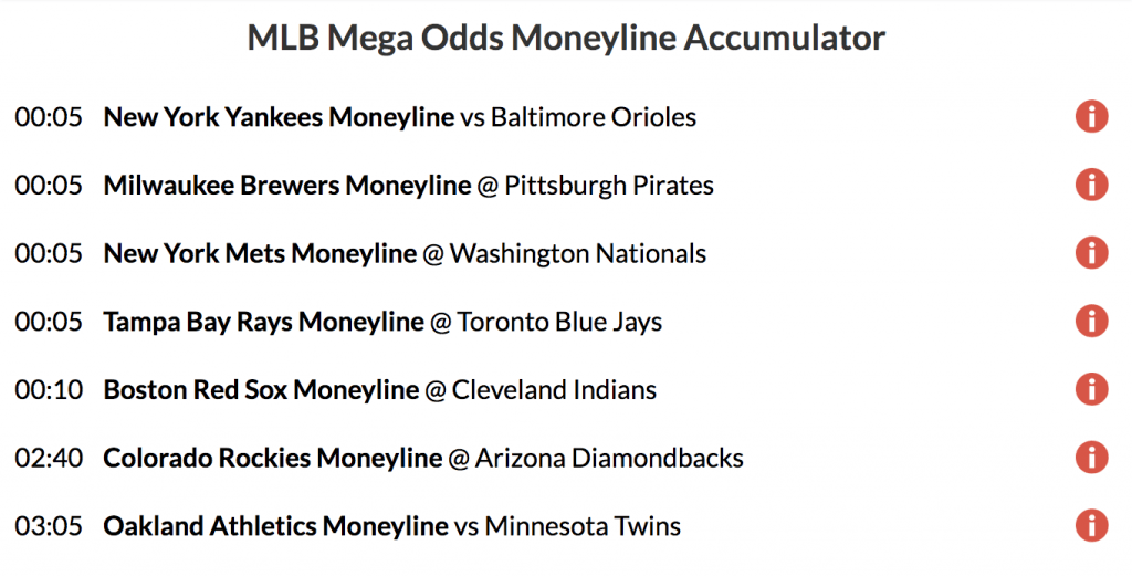 45/1 Mega Odds Acca lands on MLB