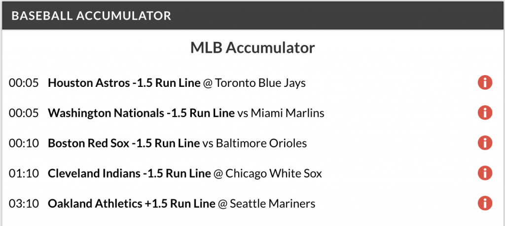 13/1 MLB accumulator and double land on Monday