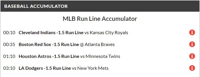 11/1 MLB Acca Lands