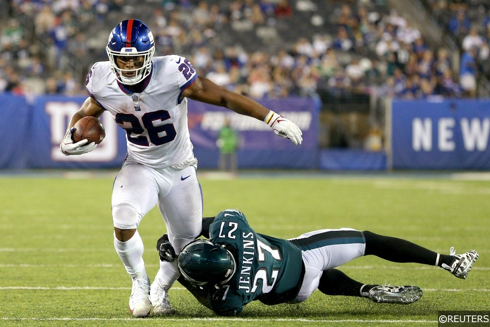 New York Giants Saquon Barkley Philadelphia Eagles Malcolm Jenkins NFL