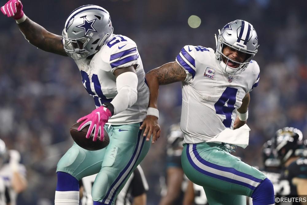 NFL - Dallas Cowboys - Ezekiel Elliott (21) Dak Prescott (4)