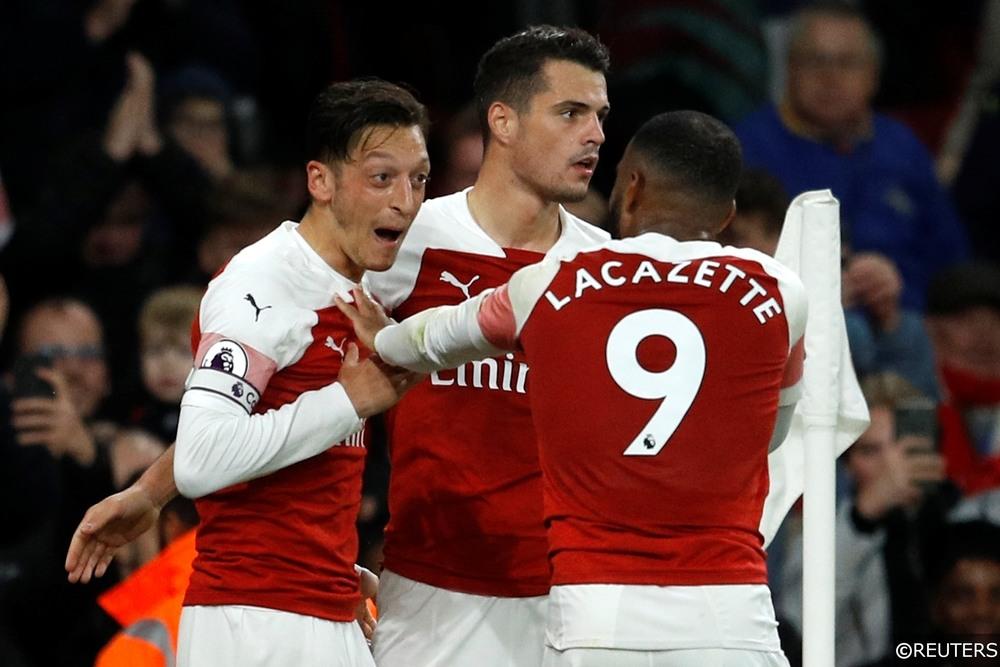 Mesut Ozil Alexandre Lacazette Arsenal