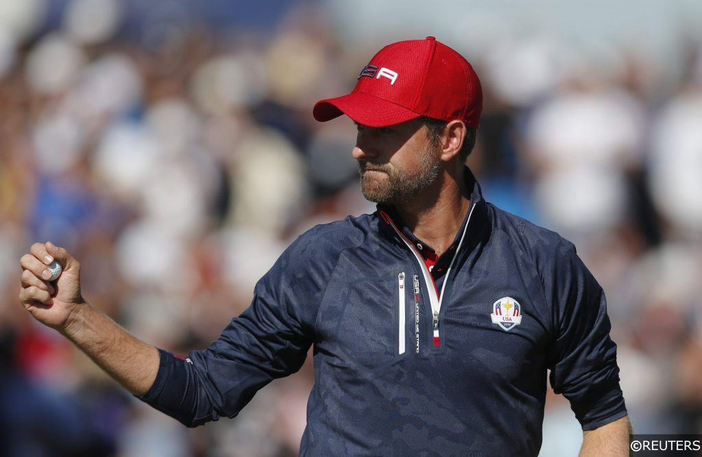 Webb Simpson at the Ryder Cup