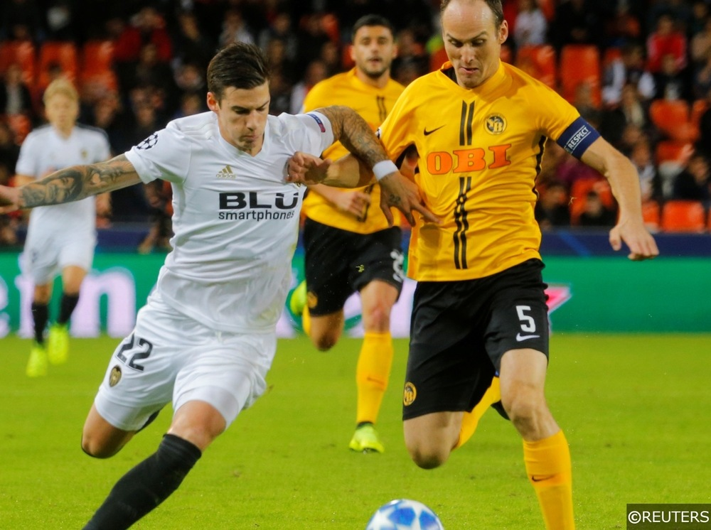 Valencia vs Young Boys Champions League