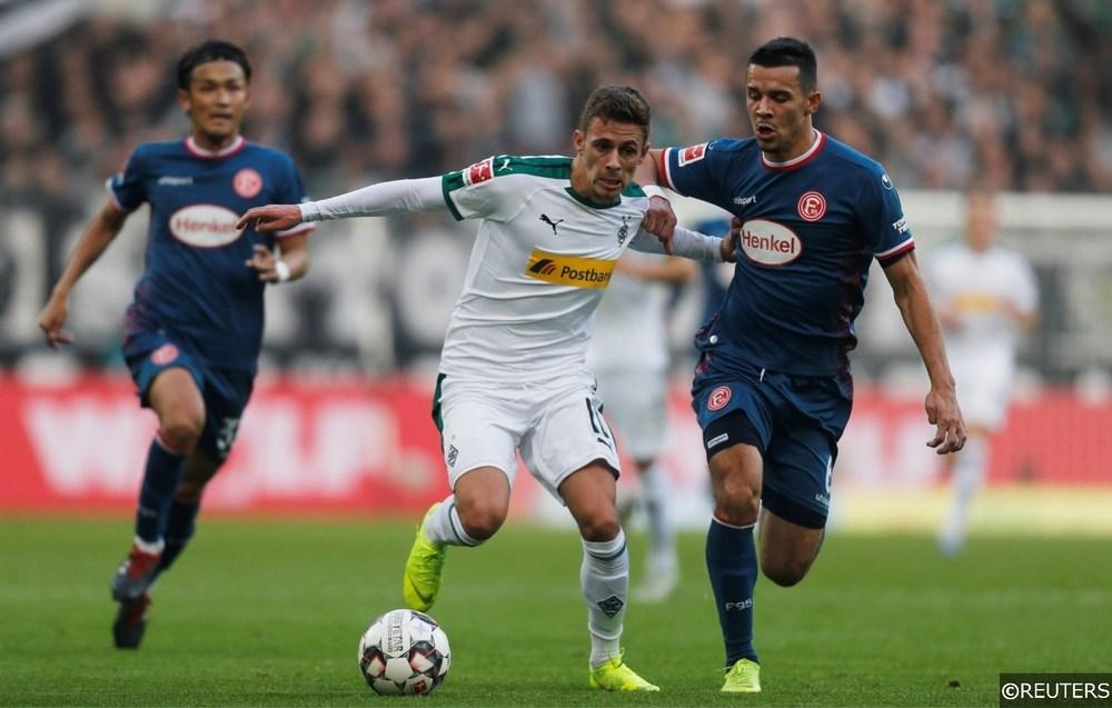 Borussia Monchengladbach Thorgan Hazard Fortuna Dusseldorf Alfredo Morales
