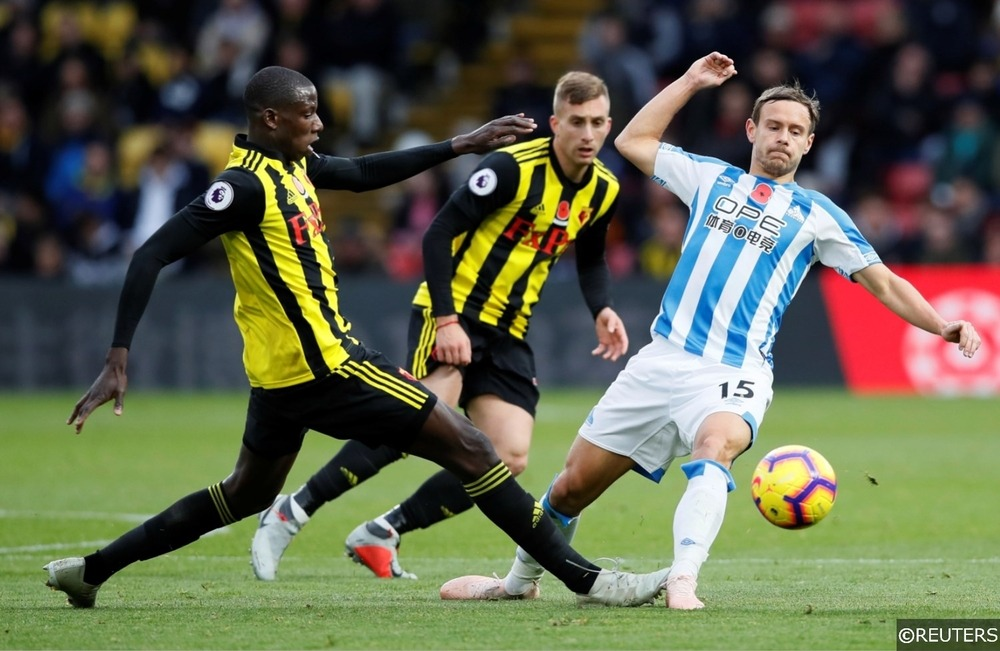 Watford Doucoure and Deulofeu Huddersfield Town Chris Lowe