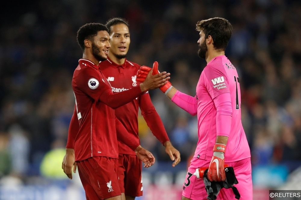 Joe Gomez, Virgil van Dijk, Alisson Becker, Liverpool