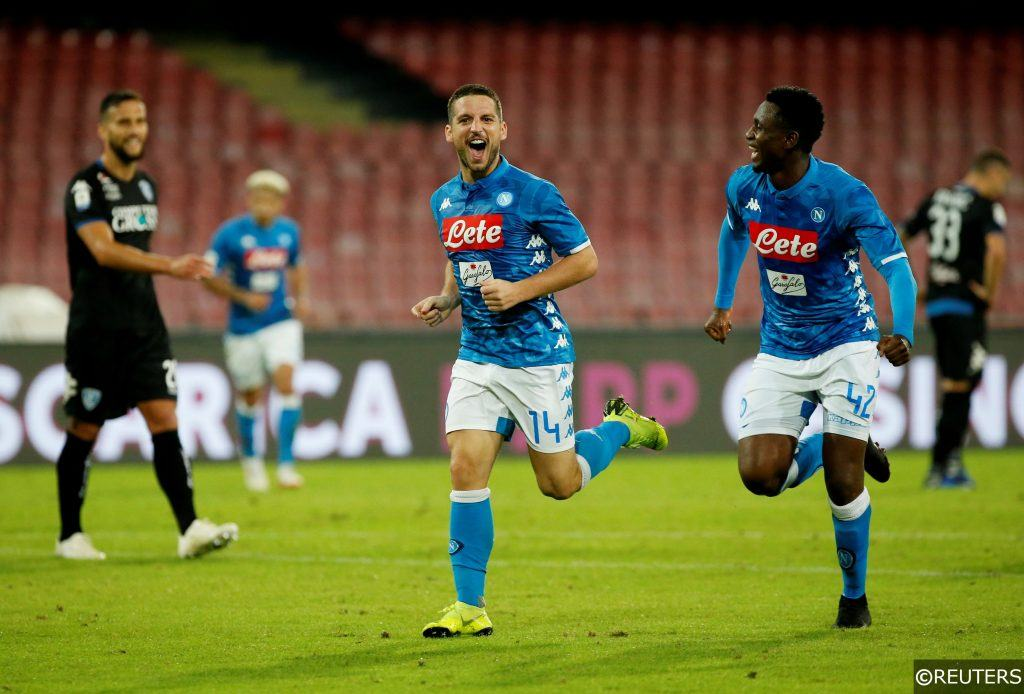 Dries Mertens celebrating for Napoli