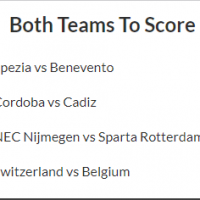 8/1 Both Teams to Score Acca lands!