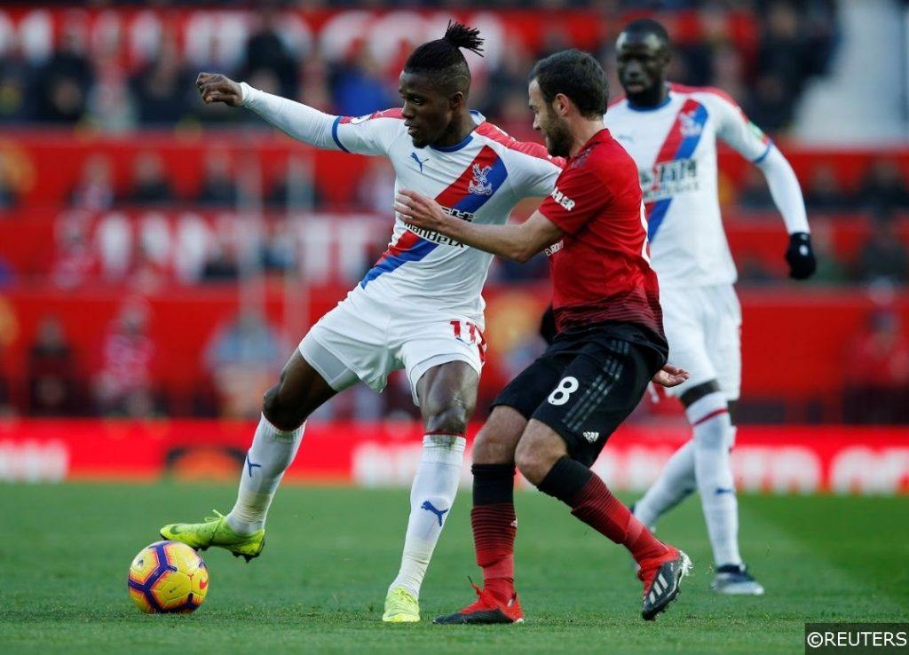Crystal Palace Zaha Man United Mata