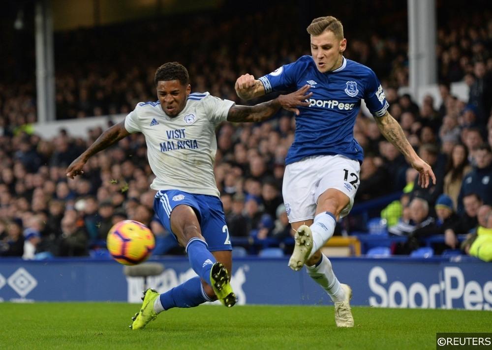 Everton Lucas Digne Cardiff City Kadeem Harris