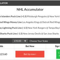 11/1 NHL acca lands