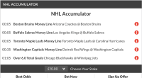 10/1 NHL acca winner