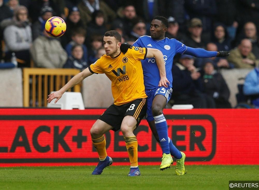 Wolverhampton Wolves Diogo Jota Leicester Ndidi