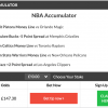 nba accumulator lands on wednesday night