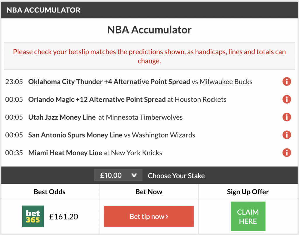 15/1 nba acca and double land