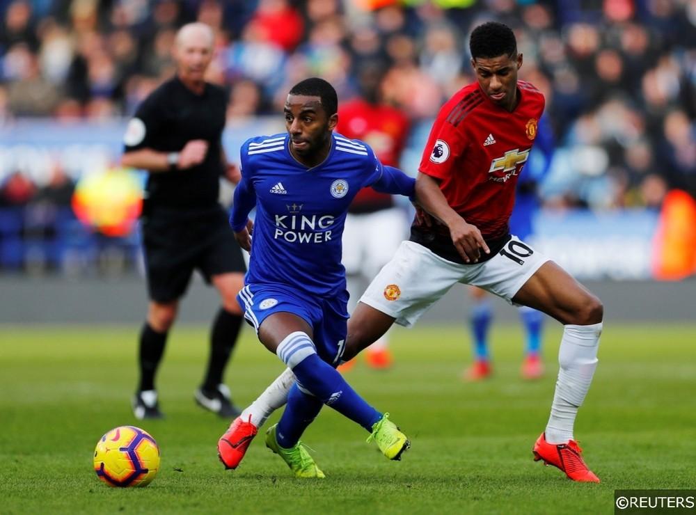 Leicester City Ricardo Pereira Manchester United Marcus Rashford