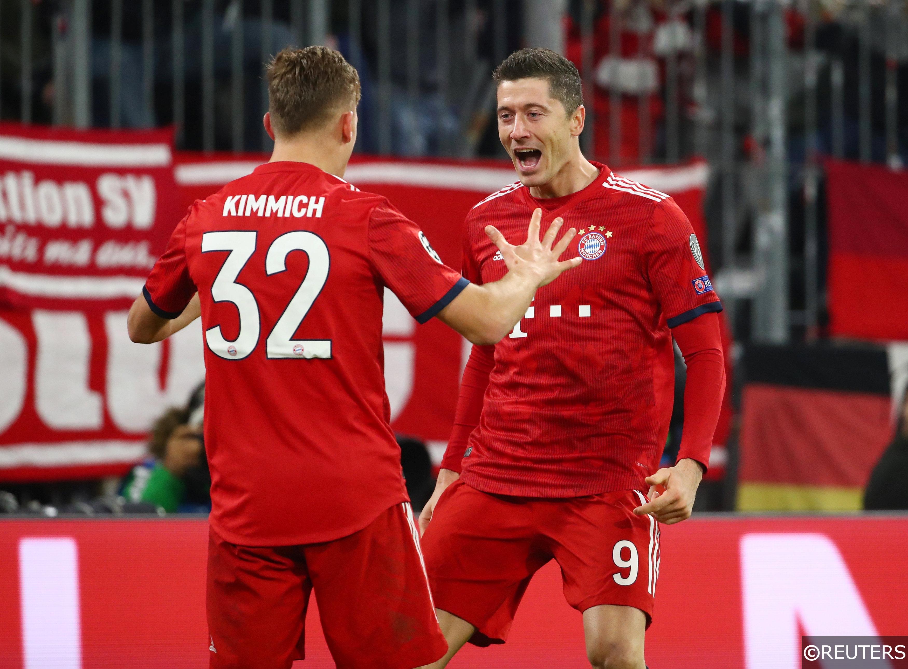 Joshua Kimmich Robert Lewandowski Bayern Munich