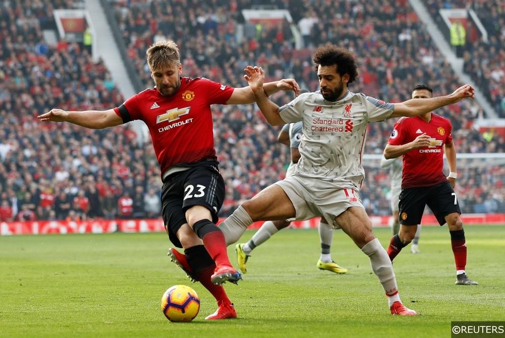 Luke Shaw Mohamed Salah Man Utd vs Liverpool