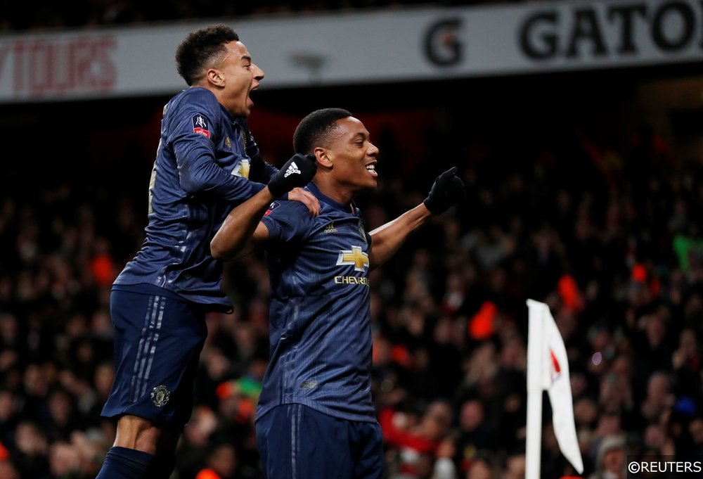 Jesse Lingard and Anthony Martial Man Utd