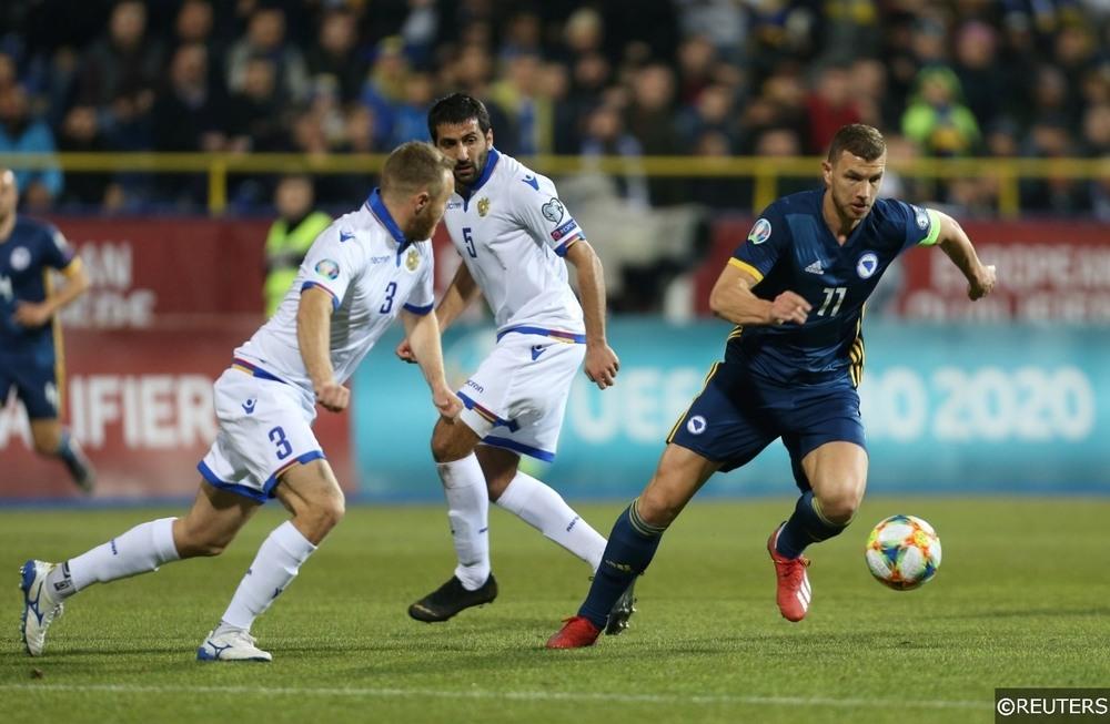 EURO 2020 Bosnia and Herzegovina Dzeko v Armenia
