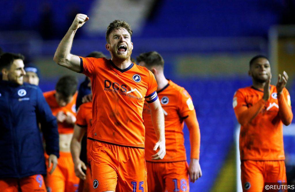 Millwall celebrate at Birmingham