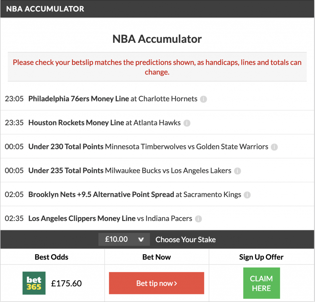nba accumulator plus double land
