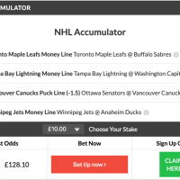 11/1 NHL Accumulator & Double land on Wednesday night!