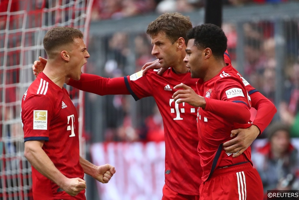 Serge Gnabry Joshua Kimmich Thomas Muller Bayern