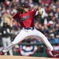 MLB Cleveland Indians pitcher Mike Clevinger