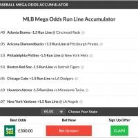 59/1 MLB Mega, 12/1 MLB Acca & MLB Double land on Wednesday Night!