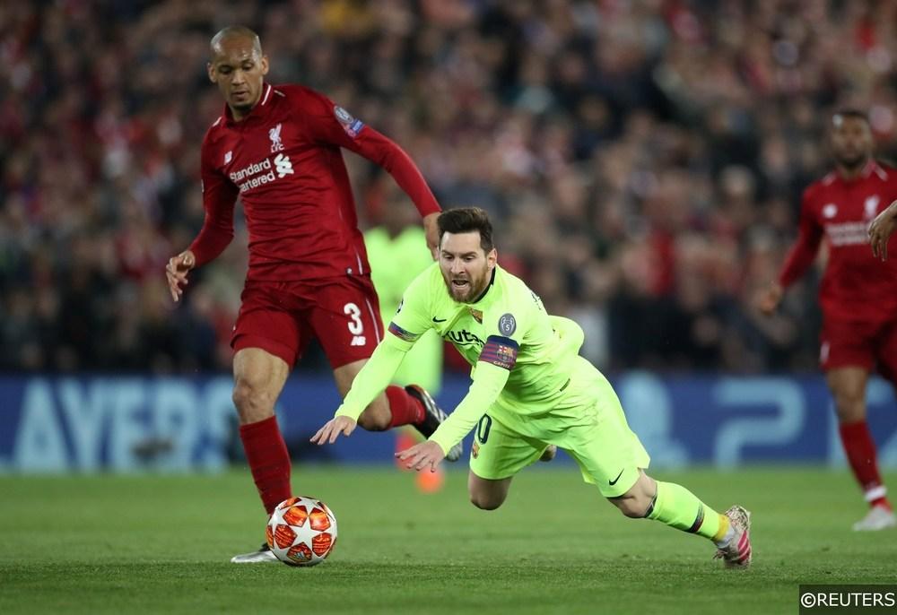 Fabinho Lionel Messi Liverpool Barcelona