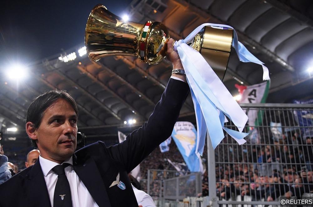 Simone Inzaghi lifts the Coppa Italia