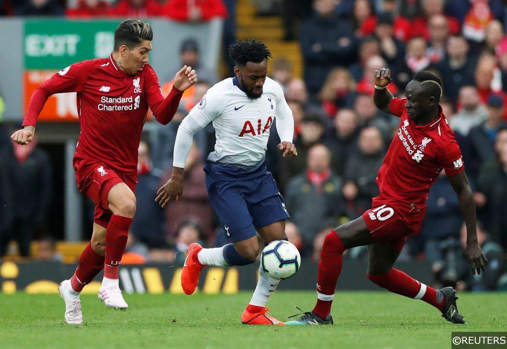 Liverpool Tottenham Danny Rose Roberto Firmino Sadio Mane