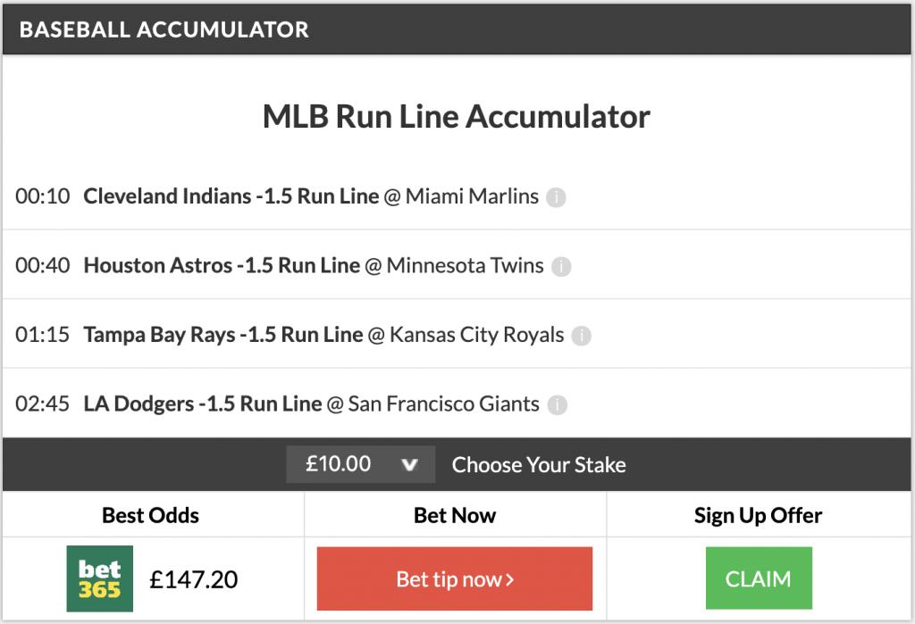 8/1 MLB Acca lands