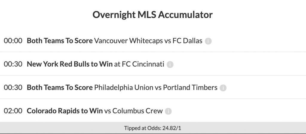 24/1 MLS Acca Lands