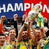 Norwich celebrate winning the Championship