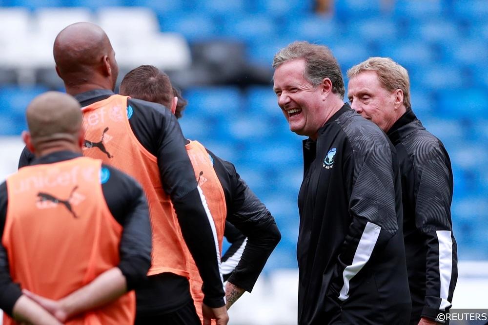 Piers Morgan Harry Redknapp Soccer Aid 2019