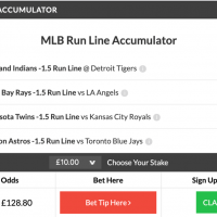 11/1 MLB Acca + Double land