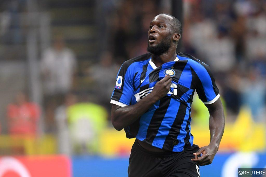 Romelu Lukaku on his Inter Milan debut