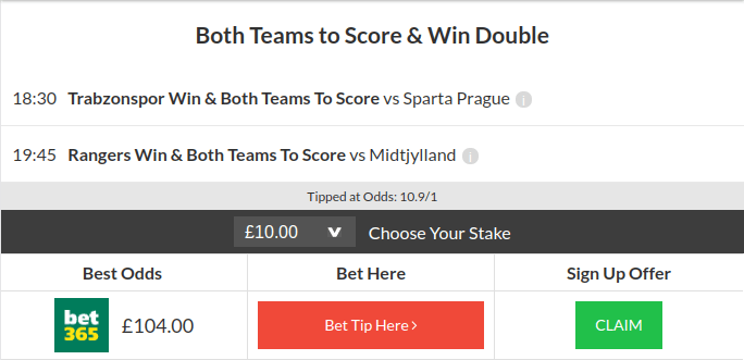 10/1 Both Teams To Score & Win Double Lands Thursday Night.