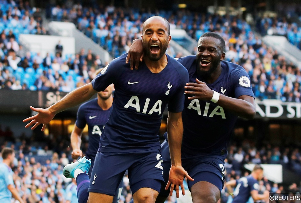 Tottenham Hostpur's Lucas Moura celebrates scoring a goal