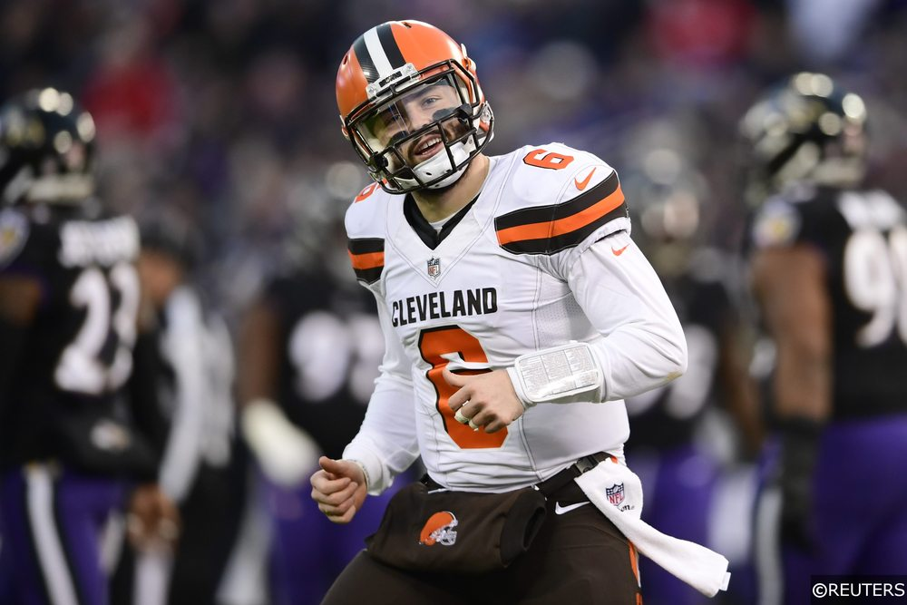 Baker Mayfield playing for the Cleveland Browns