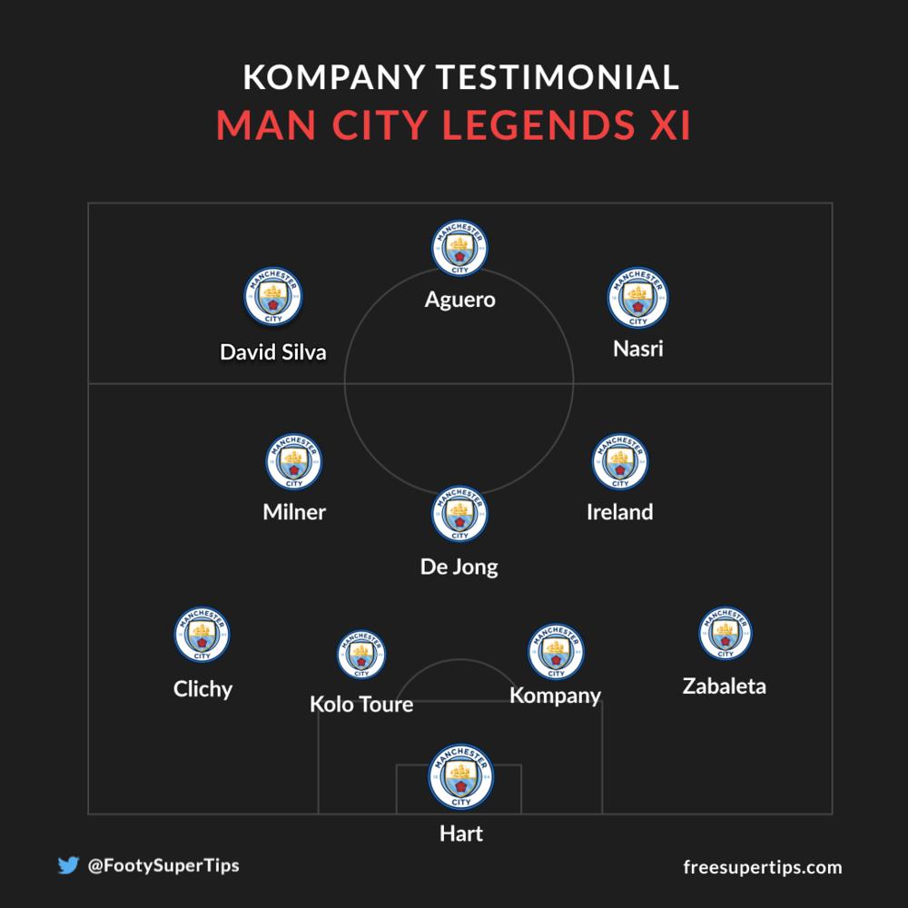 Manchester City Legends Team Vincent Kompany Testimonial