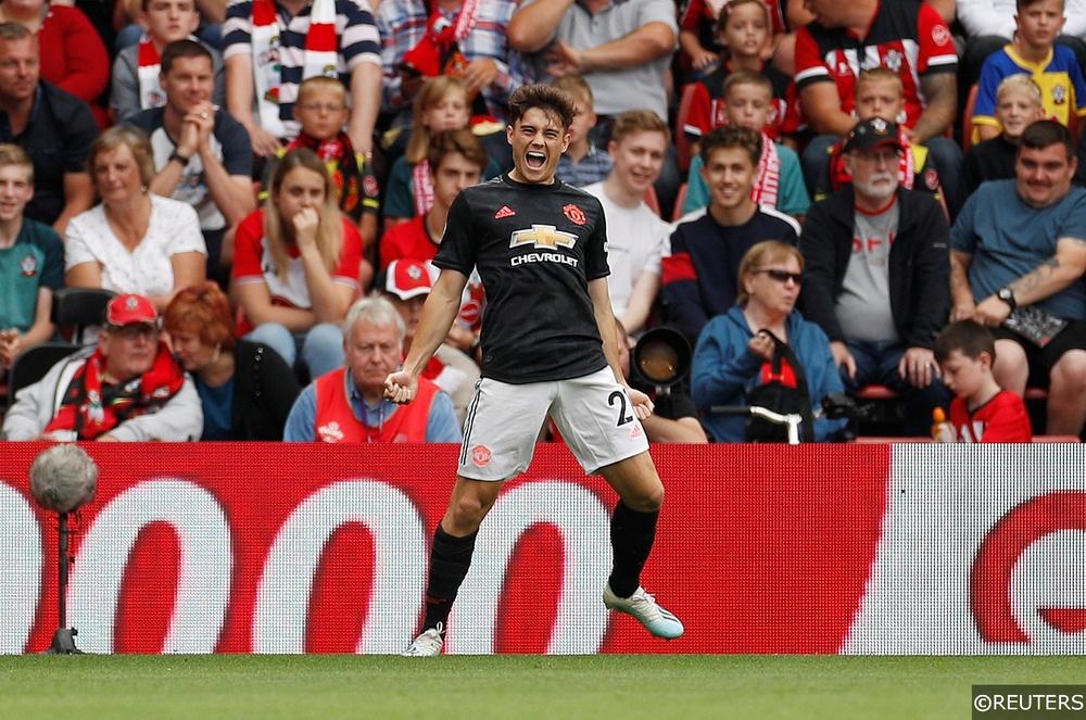 Manchester United's Daniel James celebrates scoring against Southampton