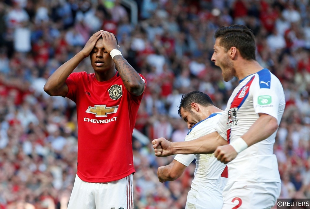 Marcus Rashford misses a Premier League penalty for the first time
