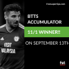 11/1 Both Teams to Score Accumulator Lands on Friday!