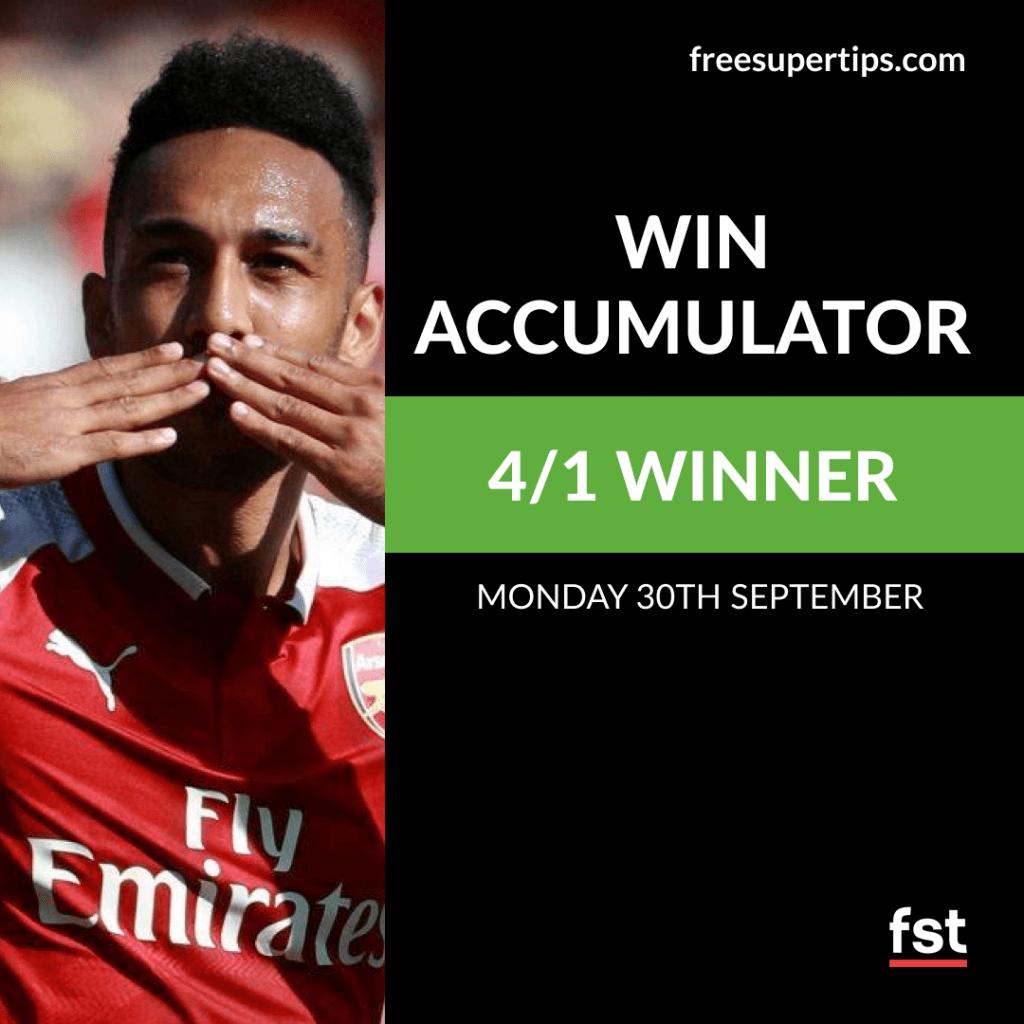 Win Accumulator Lands on Monday