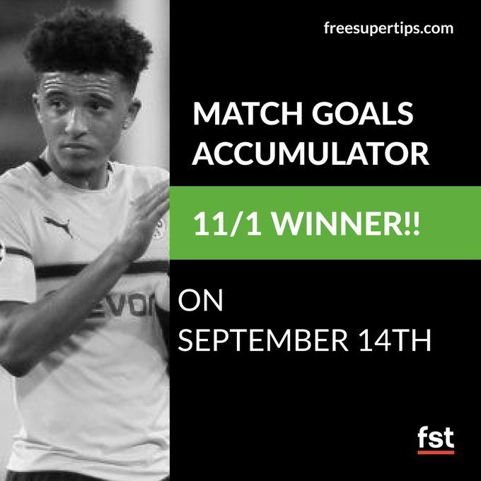 11/1 Match Goals Acca Lands on Saturday!