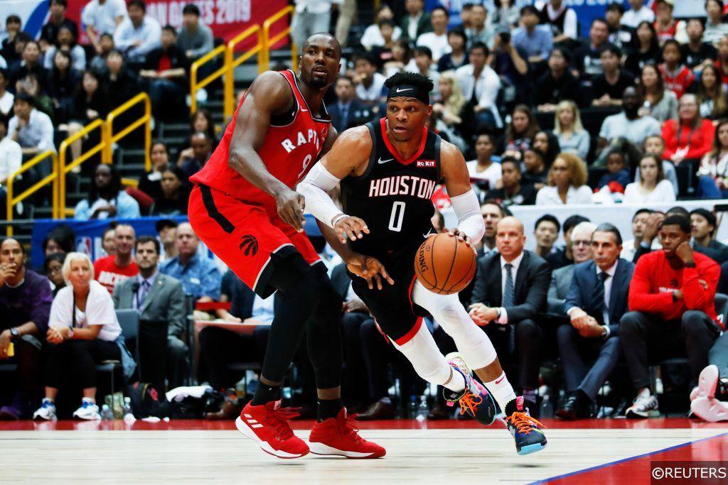 Westbrook first game for Houston Rockets vs Toronto Raptors preseason